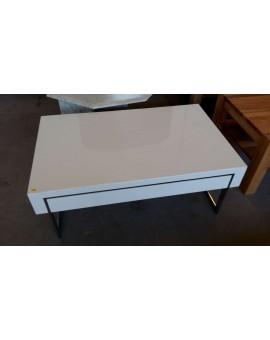 Table Basse Blanche Avec Tiroir.Table Basse Blanc Laque Avec Tiroir Direct Usine
