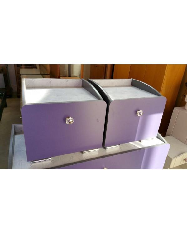 petit chevet violet occaz du meuble. Black Bedroom Furniture Sets. Home Design Ideas