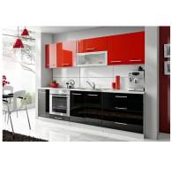 Cuisine 260cm Noir / Rouge