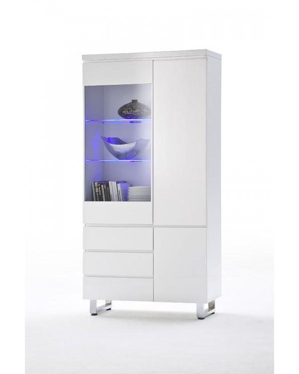 vitrine jacky blanc laqu occaz du meuble. Black Bedroom Furniture Sets. Home Design Ideas