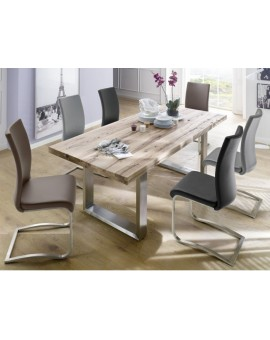 Table en bois massif Castello 2M