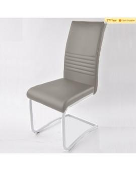Lot de 6 chaises Taupes PVC