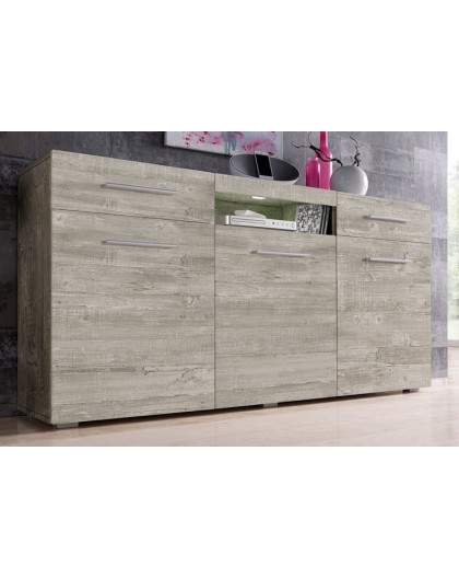 Sideboard Imola Gris Beton 150 Cm Direct Usine