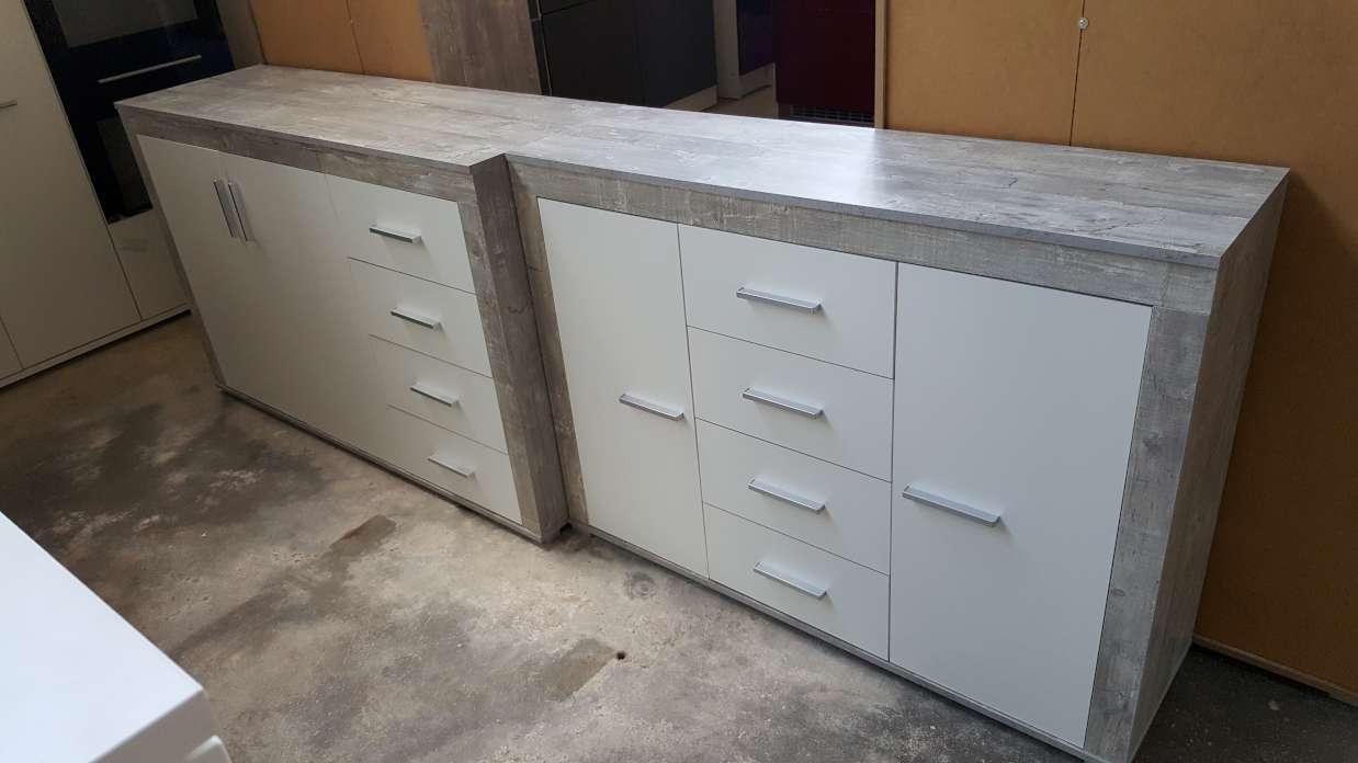 Sideboard Aosta Béton   Blanc - Direct Usine 563ea33c41e1