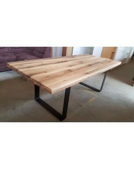Table Castello pieds industriel Noir 220cm / 98cm
