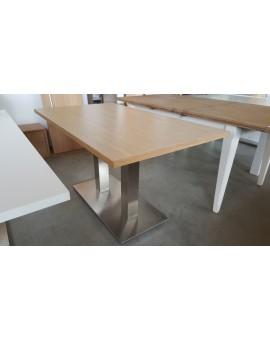 Table Denver chêne clair Pied allu 120cm / 80cm