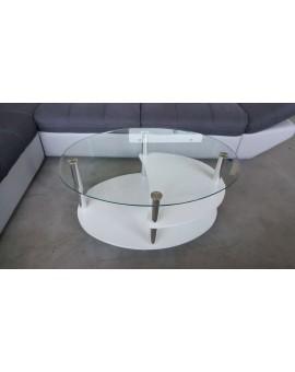 Table Basse Blanche Et Vitrée Direct Usine