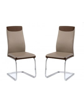 Lot 6 Chaises Nadine Cafe 45 58 96 Cm