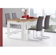 Table 160cm blanc laqué épicéa