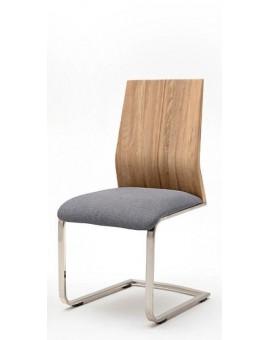 """Lot de 4 chaise MCA PISA """"D"""" assise tissus dossier chêne massif"""