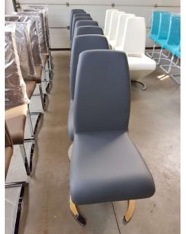 Lot de 6 chaises MCA Real I PVC Grise