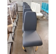 Lot de 6 chaises MCA Real I PVC Grise