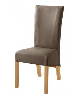 Lot de 6 chaises MCA Fidelio tissus alcantara choco