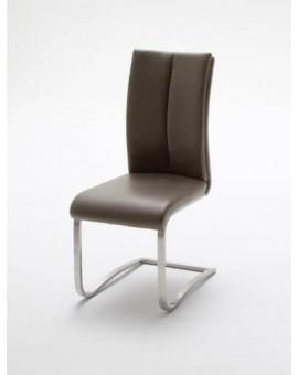 Lot de 8 chaises MCA Manus PVC Cappuccino