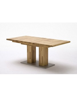 "Table ""Turin"" massif à rallonges 160cm/260cm"