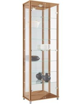 Vitrine optima double portes avec miroir et LED