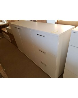 Sideboard Rio blanc 180cm 2 portes 3 tiroirs