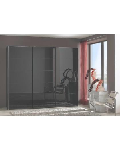 Armoire Westside 300/236cm grise vitrée