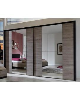 Armoire Corona 200cm / 217cm Portes miroir