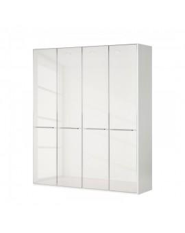 Armoire Shangai 200/217cm 4 portes vitrées