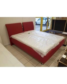 Lit Boxspring PVC Rouge 160/200cm Design