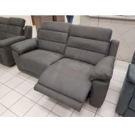 Canapé 3 places electrique + 2 places fixe avec têtières réglables