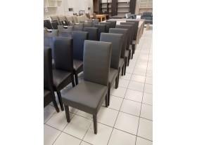 Lot de 6 chaises grise PVC 4 pieds noirs