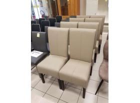 Lot de 8 chaises PVC et arrière Rotin 4 pieds noirs