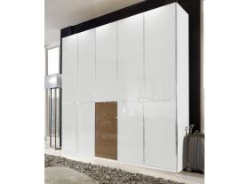 "Armoire ""Shangai"" 5 portes 5 tiroirs 250cm/217cm"