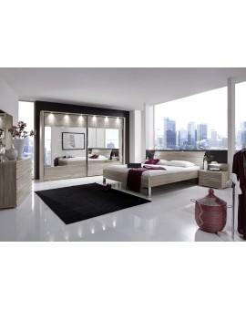 Armoire catania portes blanches 250cm / 236cm