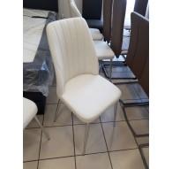 Lot de 6 chaises PVC blanc 4 pieds chromés