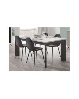 Table salle à manger Mylan chêne blanc 185/100/78cm
