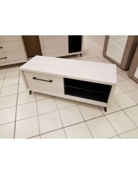 Meuble TV Mylan chêne blanc 135/48/54cm