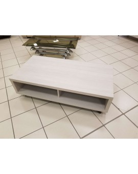Table basse Mylan chêne blanc 120/60/35cm