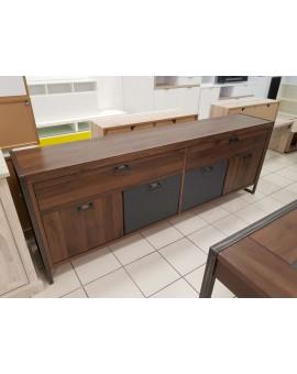 Bahut Bas Style Industriel Decor Noyer 220cm Direct Usine