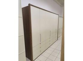 Armoire Loft 300/220cm blanc et chêne sauvage