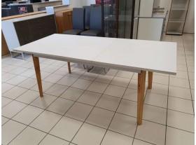 Table blanche style scandinave avec rallonges 160/200cm