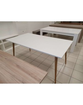 Table blanc mat style scandinave 160cm