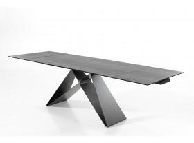 """Table Force """" A """" céramique verre trempé avec allonge 180/280cm"""