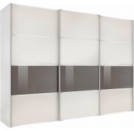 Armoire Alassio blanche 250/216cm 3 portes coulissantes
