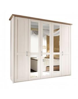 Armoire LUCA PINIE blanche 235/213/61cm