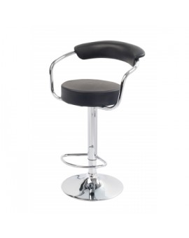 Tabouret bar PVC Noir Arc