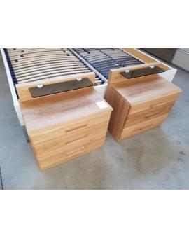 Chevet Wiemann 3 tiroirs »Lausanne« avec tablette éclairage LEDS