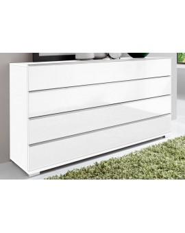 Commode Shangai 145cm blanc vitré