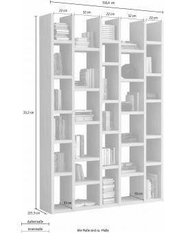Bibliothèque »TOR164«, largeur 150 cm