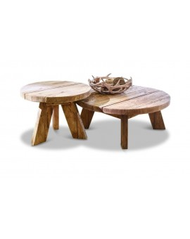 LOT DE 2 TABLES D'APPOINT OTELEY Artisana L