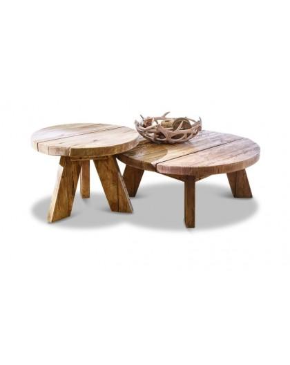 LOT DE 2 TABLES D'APPOINT OTELEY Artisana L
