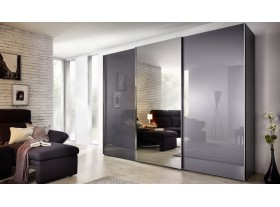 Armoire Evena graphit vitrée miroir central 300/240cm