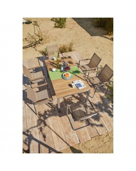 Table chêne clair pieds allu 160/90cm