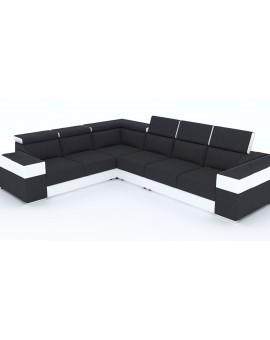 Canapé Obri 2 PVC noir et blanc 320cm / 260cm reversible